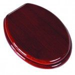 PlumbTech 5B3E3-17OB Elongated Toilet Seat in Traditional Design Red Oak with Natural Finish